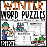 Winter Word Puzzles FREE SAMPLE