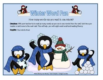 Winter Word Readers ( Fluency)