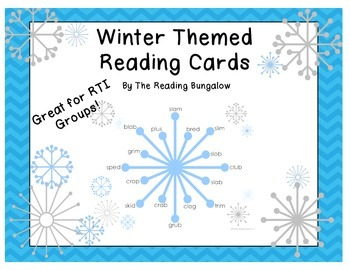 Winter Word Reading Cards - CCVC And CVCC cards!