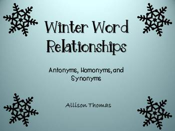 Winter Word Relationships