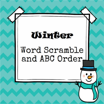 Winter Word Scramble and ABC Order Cut and Paste