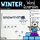 Winter Word Scrambles