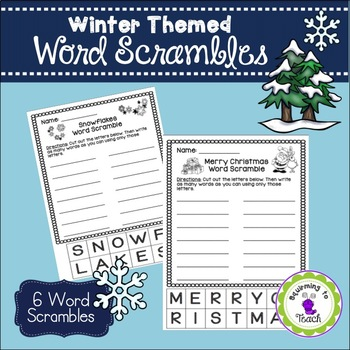 Winter Word Scrambles