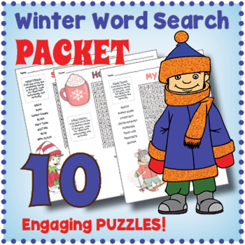 This is an image of Handy Winter Word Search Printable