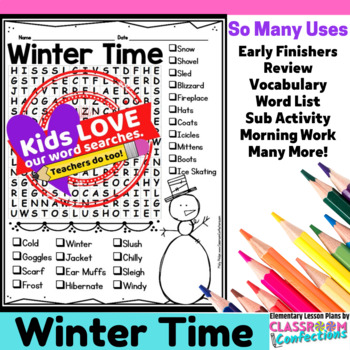 Winter Activity: Winter Vocabulary: Winter Word Search