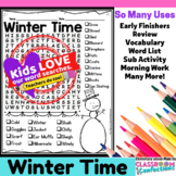 Winter Word Search Activity