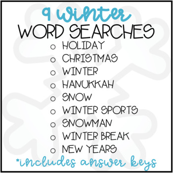 Winter Word Search
