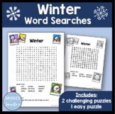 Winter Word Search {Easy and Challenging Versions}