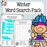 Winter Activities: Word Search