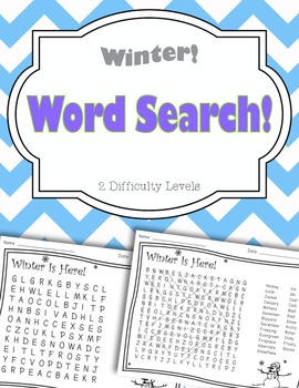 Winter Word Search Pack