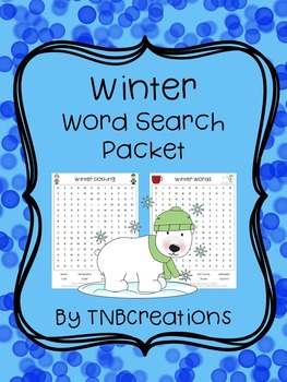 Winter Word Search Packet
