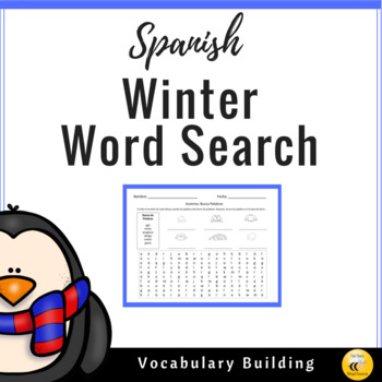 Winter Word Search (Spanish)
