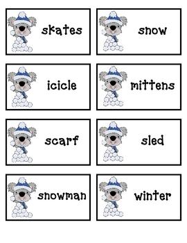 Winter Word Sort