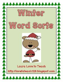 Winter Word Sort Unit