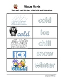 Winter Word Trace