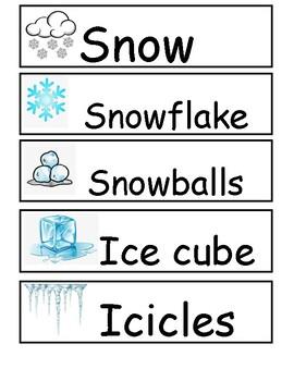 Winter Word Wall
