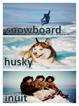 Winter Word Wall Vocabulary and Word Sort