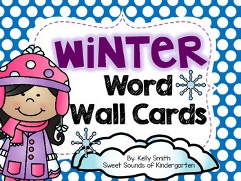 Winter word walls resources lesson plans teachers pay teachers winter word wall cards winter word wall cards sciox Gallery