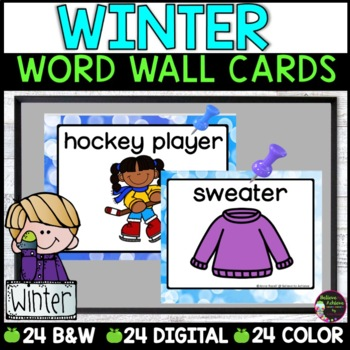 Winter Word Wall Cards