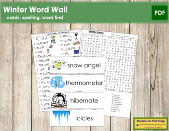 Winter Word Wall Cards, Plus!