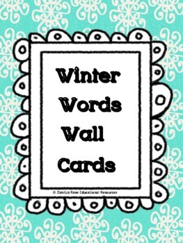 Winter Word Wall Cards! Very LOW prep to NO prep!