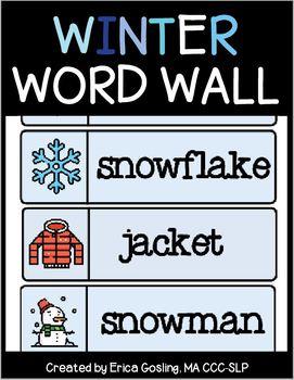 Winter Word Wall - FREEBIE!