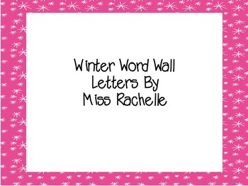 Winter Word Wall Letters
