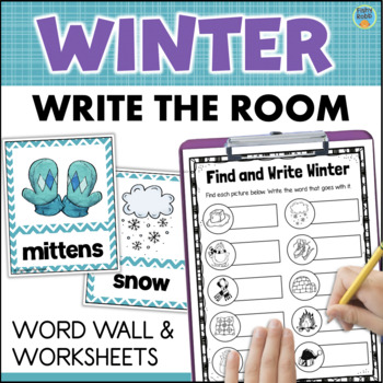 WINTER Word Wall + Write the Room