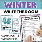 WINTER Vocabulary Word Wall + Write the Room Activities