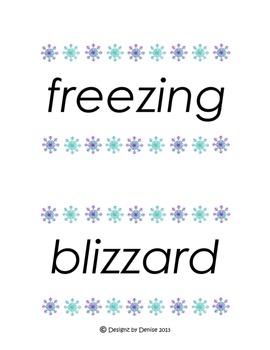 Winter Word Wall Set
