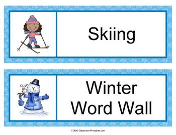 Winter Word Wall Updated
