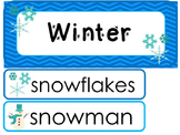 Winter Word Wall Weekly Theme Posters.