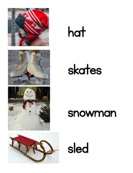 Winter Word Wall Words (Pictures First)