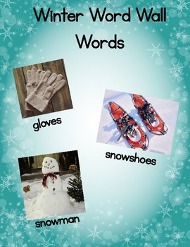 Winter Word Wall Words (Words First)