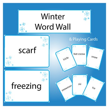 Winter Word Wall and Playing Cards