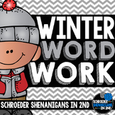 Winter Word Work - parts of speech, abc order, context clu