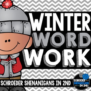 Winter Word Work - parts of speech, abc order, context clu