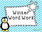 Winter Word Work Centers, Printables and Games!