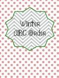 Winter Word Work - ABC Order