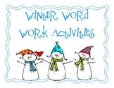 Winter Word Work Activities and Cards