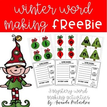Winter Word Work FREEBIE