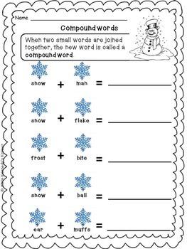 Winter Word Work - FREEBIE!
