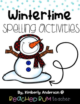 No Prep Winter Word Work - Word Study / Spelling / Sight Words