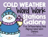 Winter Word Work Galore-5 Differentiated and Aligned Stations