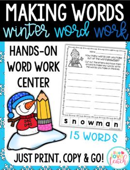 Winter Word Work - Making Words