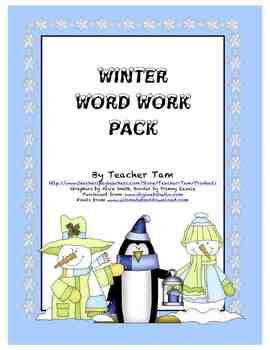 Winter Word Work Pack