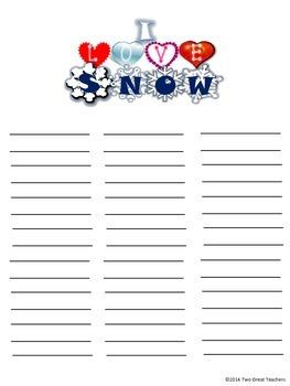 Winter Word Work Packet