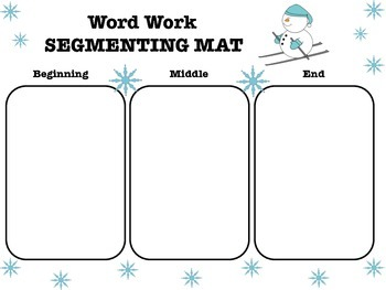 Winter Word Work Segmenting Mat