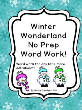 Winter Word Work Stations!