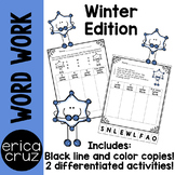 Winter Word Work and Literacy Center Activity